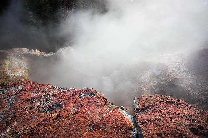 Steam vent in Hell's Kitchen at Lassen Volcanic National Park.