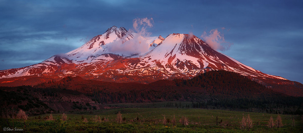 Volcanic Legacy<br /> Shasta is the second highest peak in the Cascade Range.