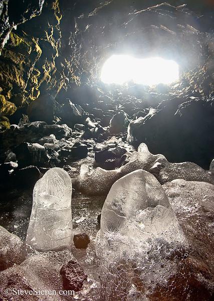 Ice Stalagmite Cave - Mt. Shasta area