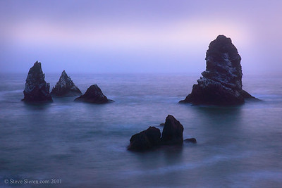 Cluster of Seastacks along California's Lost Coast