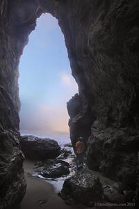 Dramatic sea arch, California's Lost Coast