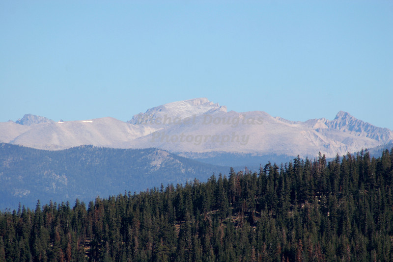Sierra Nevada Mountains as viewed from Sherman Pass Road northeast of Kernville