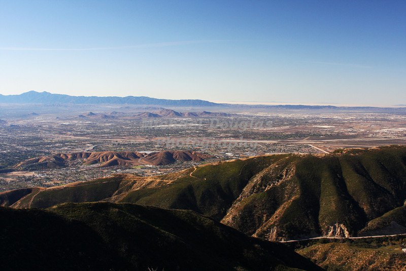 San Bernardino, California as seen from California Highway 18
