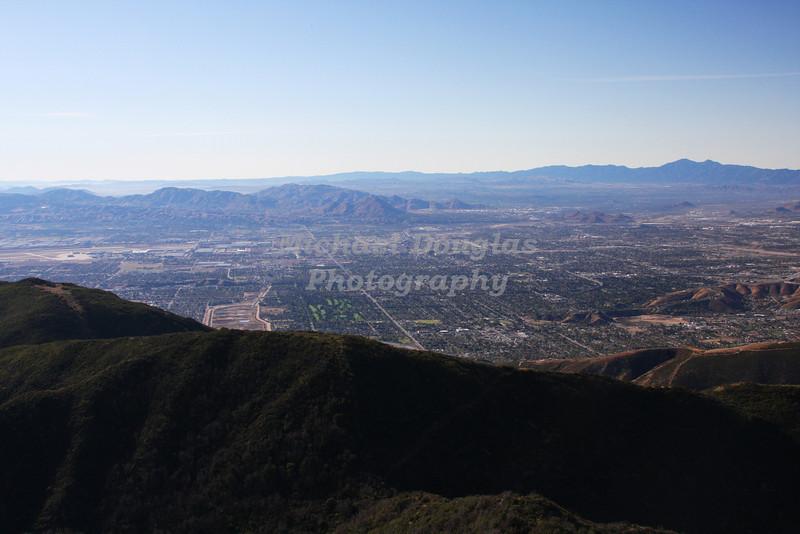 San Bernardino, California as seen from California Highway 18
