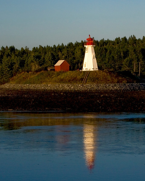 Mulholland Lighthouse. Located on Campobello Island directly accross from the downtown waterfront of Lubec, Maine.