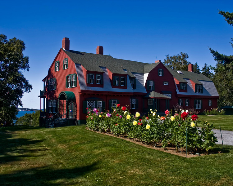Franklin Delano Roosevelt's summer cottage. This is now the Roosevelt Campobello International Park.