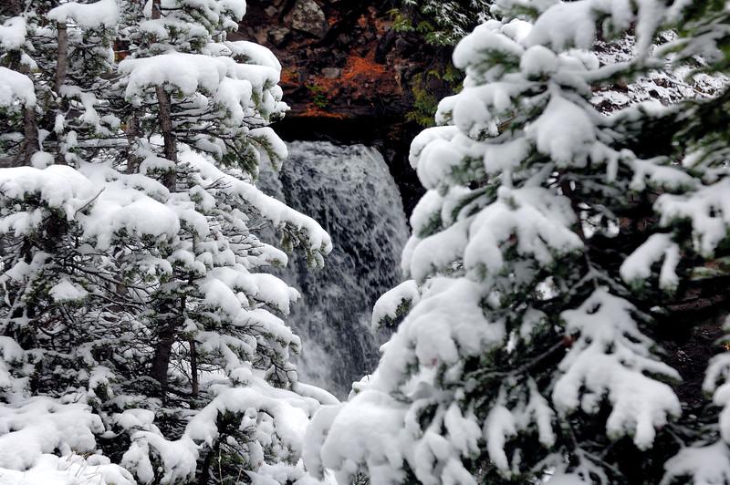 Waterfall snow