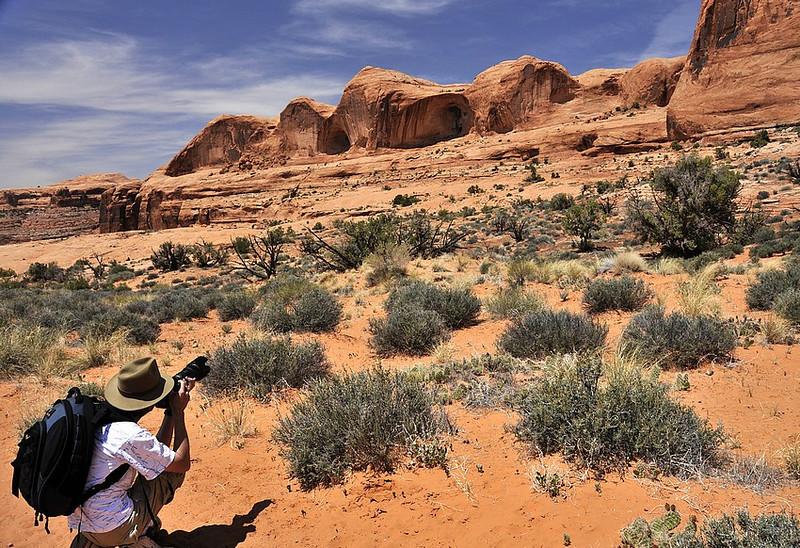 In the desert ( Utah)