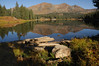 Irwin Lake and Ruby range ( Ruby peak , Mount Owen, Purple Mountain )