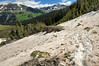 On the trail from Paradise pass to Schofied pass