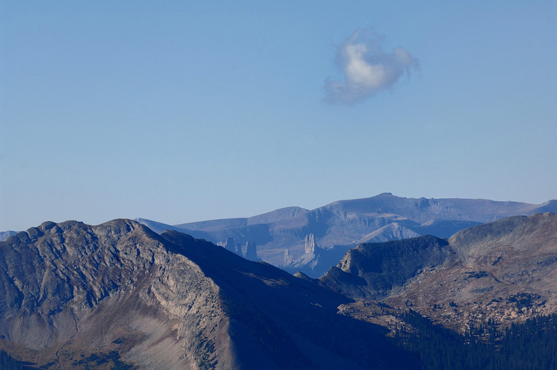 First cloud above The Castle , taken from Scarp ridge