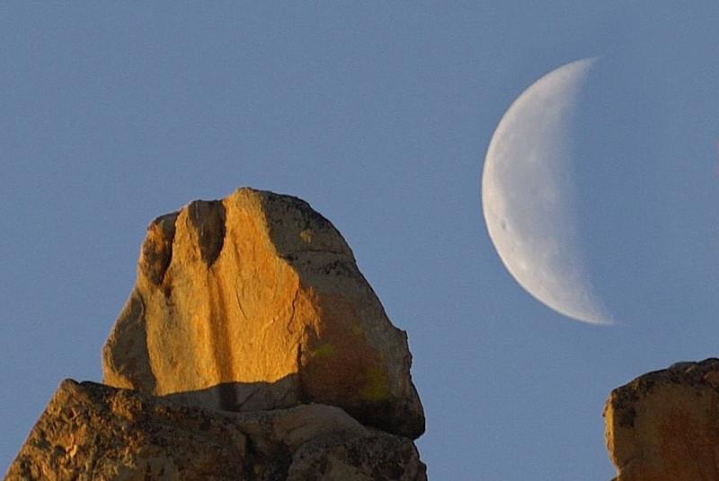 Looking at the moon (Hartman rocks  Gunnison Co)