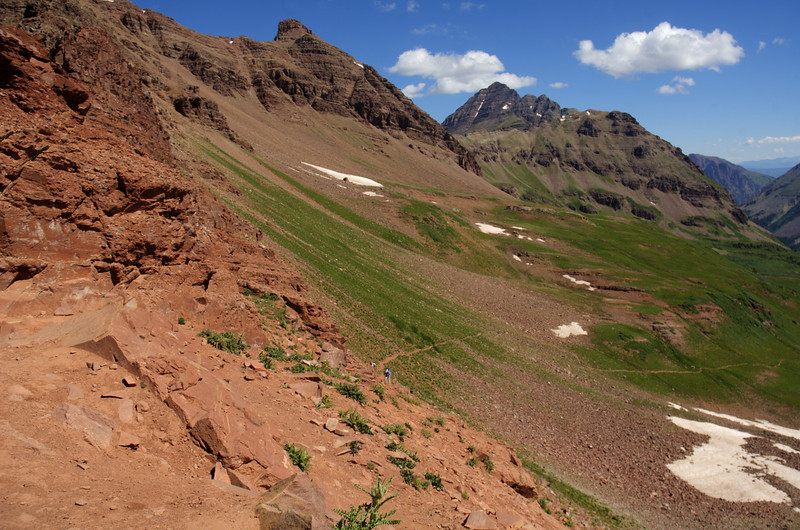Maroon Bells from West Maroon Pass