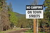 No camping