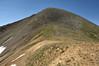Trail ending at the saddle , Ruby peak ahead