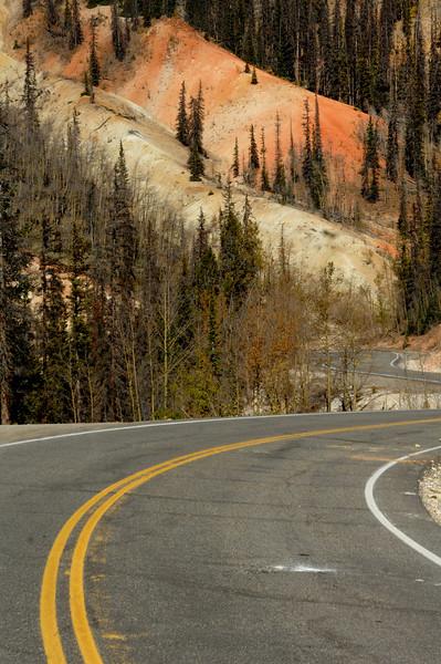Slumgullion  pass road