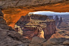 Washer woman arch from Mesa arch