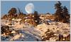 Morning moon (Top of the World , Hartman rock's  Gunnison )