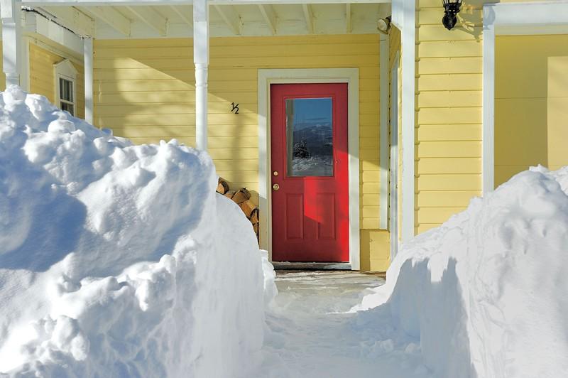 Yellow house , Red door