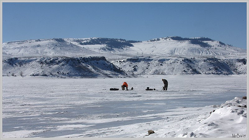 Ice fishing (Blue Mesa)