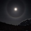 Lunar Halo, Lake Minewanke, Banff National Park