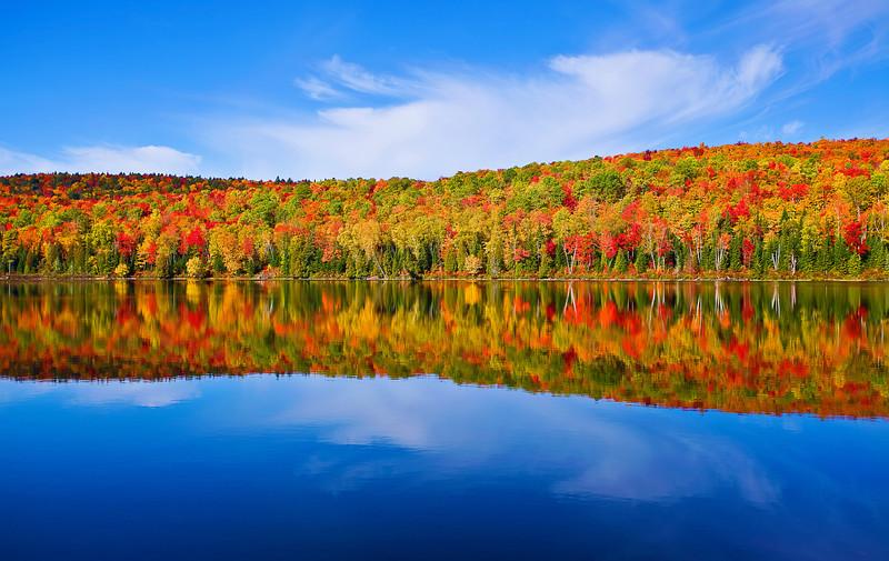 Canada, Quebec, La Mauricie National Park, Lac Bouchard, Fall Colors, Reflection, Landscape, 加拿大 风景, 魁北克, 摩里斯国家公园, 秋色, 倒影