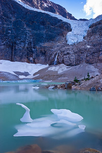 """Ice Swan"" in Cavell Lake  (JA-07025)"
