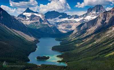Mount Assiniboine - Aerial View  (BC-07122)