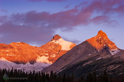Mount Athabasca & Hilda Peak at Sunrise  (BA-07088)