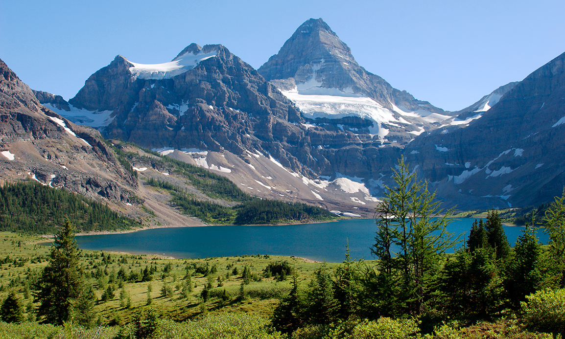 Mount Assiniboine above Lake Magog
