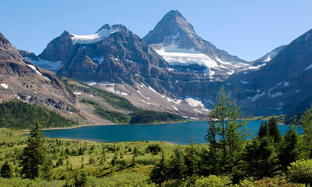 Mount Assiniboine above Lake Magog