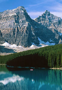 (B049)  Canoe on Moraine Lake - Banff National Park