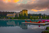 The Le Chateau At Lake Louise At Sunrise - Lake Louise, Banff National Park, Alberta, Canada