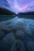 Lake Louise Pink Twilight - Lake Louise, Banff National Park, Alberta, Canada