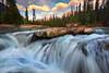 The Natural Bridge And Converging Waterfalls - Natural Bridge, Yoho National Park, Field, BC, Canada