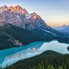First Light at Peyto Lake