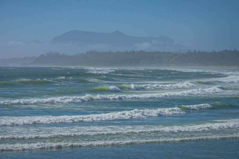 Surfs Building Up Over Wickaninnish Beach Pacific Rim National Park Reserve, Vancouver Island, BC,  Canada