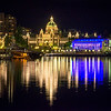 Parliament Buildings From Across Harbor - Victoria Harbor, Vancouver Island, BC, Canada