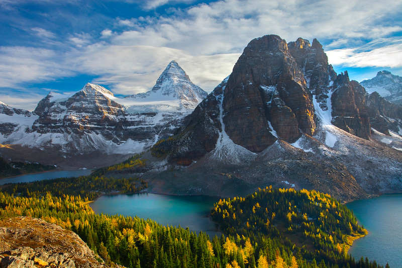 Mt Assiniboine In Early Morning Light - Mount Assiniboine Provincial Park, BC, Canada