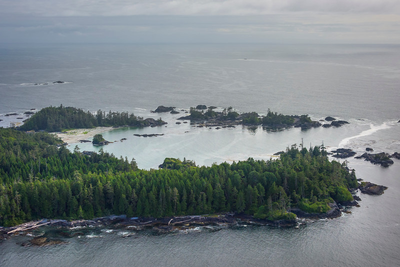 Shoreline Beaches In The Clayoquot Sound Clayoquot Sound ,Tofino, and Ucluelet By Air,  Vancouver Island, BC, Canada