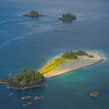 An Outcrop Of Islands In The Pacific Rim Clayoquot Sound ,Tofino, and Ucluelet By Air,  Vancouver Island, BC, Canada
