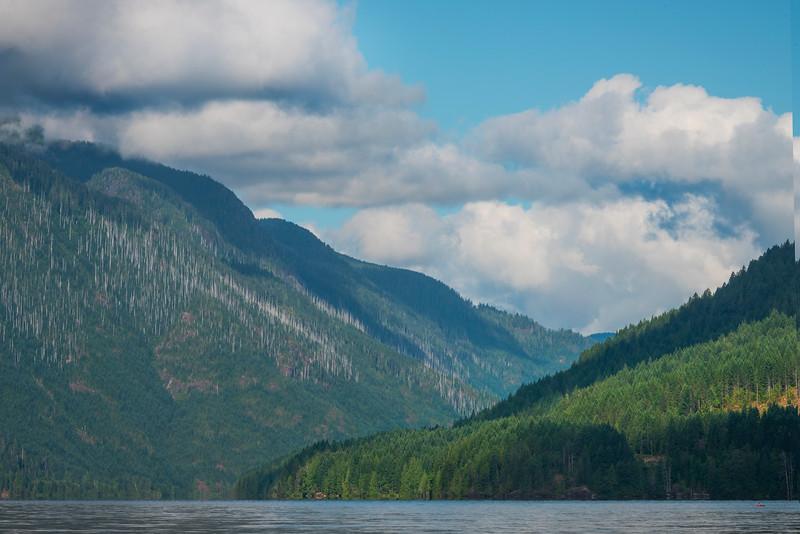 Sproat Lake Shadows Taylor Arm Provincial Park,  Vancouver Island, BC, Canada