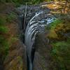English River Falls From Bridge English River Falls, - Vancouver Island, BC, Canada
