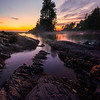 Shoreline Rocks Leading Into Botany Bay Sunset - Botany Bay, Botanical Beach, Vancouver Island, BC, Canada