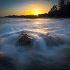 Sunset Dreams At The Ocean Pacific Rim National Park Reserve, Vancouver Island, BC,  Canada