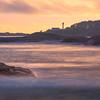 Lennard Island Lighthouse From Frank Island Chesterman Beach, Tofino,  Vancouver Island, BC, Canada