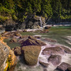 Hidden Waterfall At Sombrio Beach - Sombrio Beach, Vancouver Island, BC, Canada