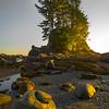 The Last Of Side Light On Island Rock - Botany Bay, Juan De Fuca Trail,  Vancouver Island, BC, Canada