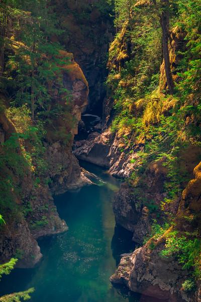 The Little Qualicum Gorge Little Qualicum Falls,  Vancouver Island, BC, Canada