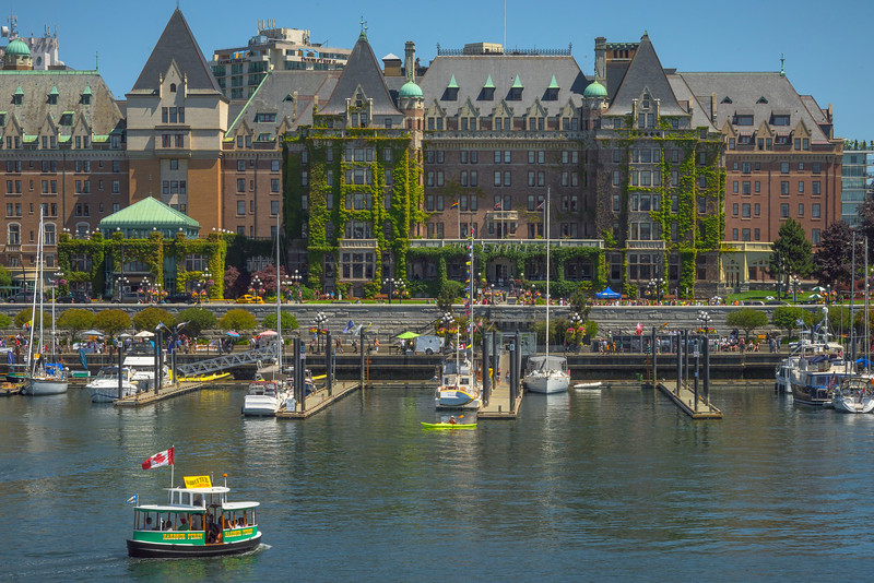 The Empress Hotel Harbour - Victoria Harbor, BC, Canada